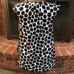 Merona Tops - Black and white polka dot blouse